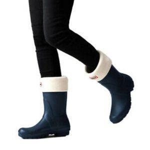 Hunter Original Short Boot Socks Cream Size Large